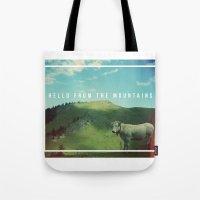 Mountain cow Tote Bag