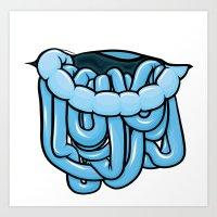 viscera : blue razz Art Print