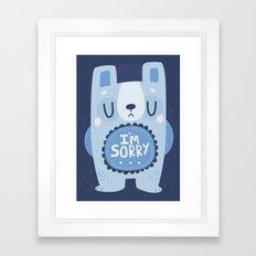 I'm Sorry Blue Bear  Framed Art Print