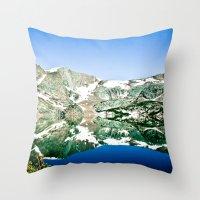 Glacier Lake Throw Pillow