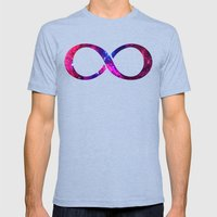 Galaxy! Mens Fitted Tee Tri-Blue SMALL