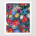 Redon floral Art Print
