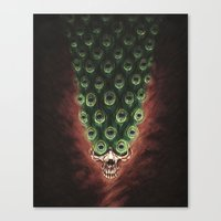 The Peacock's Tail Canvas Print