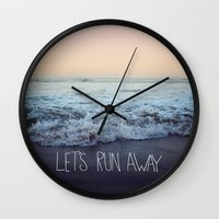 Let's Run Away x Arcadia Beach Wall Clock