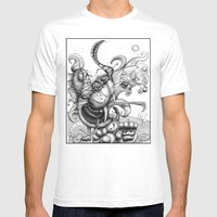 Cat Scratch Fever Mens Fitted Tee White SMALL
