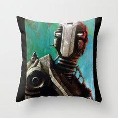 Twin #1 Robot Throw Pillow