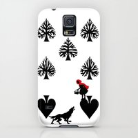 Galaxy S5 Cases featuring Curator Deck: The 7 of Spades by Emmanuel Jose