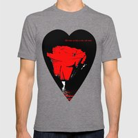Rose Love Mens Fitted Tee Tri-Grey SMALL