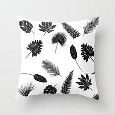 Botanical study - Fern Leaves pattern Throw Pillow