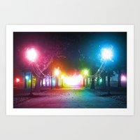 A Night in the Park Art Print