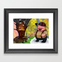 Heaven & Hell Print~! Framed Art Print