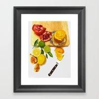 Still Life With Pomegran… Framed Art Print