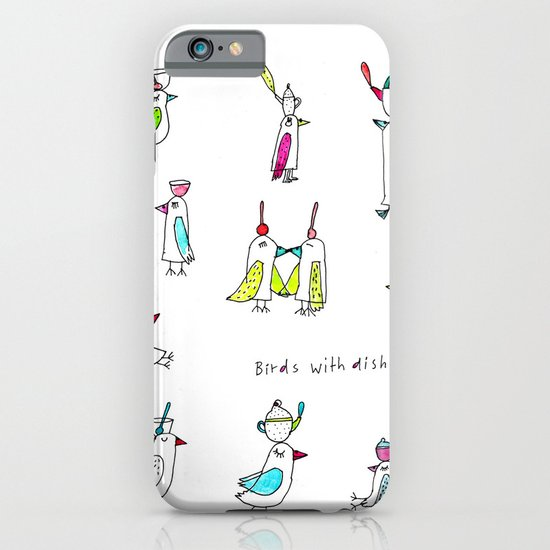birds with dishes iPhone & iPod Case