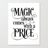 Magic Always Comes With … Canvas Print