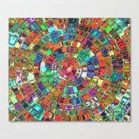 Mosaic Gems   Canvas Print
