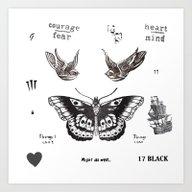 Tattoo à La Harry Art Print