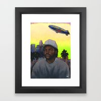 'ICE CUBE'S A PIMP!' (Green Sky) Framed Art Print