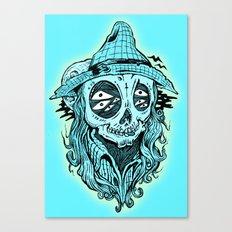 scared crow Canvas Print