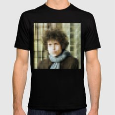 Bob Dylan - Blonde on Blonde - Pixel Mens Fitted Tee Black SMALL