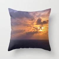 Sunrise At Sea Throw Pillow