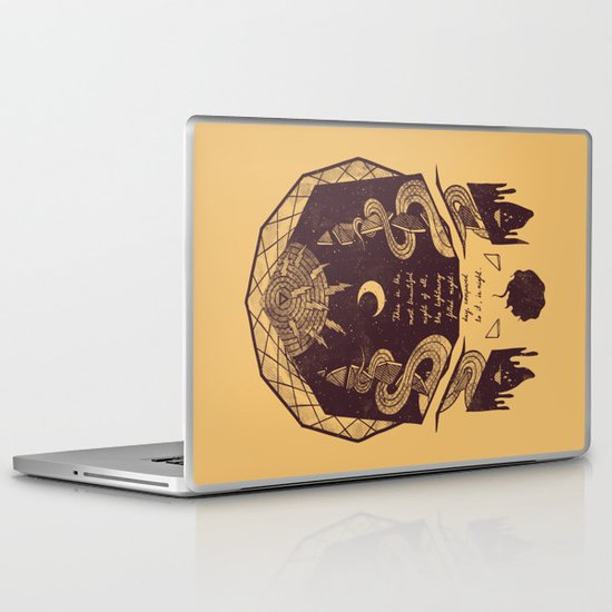 The Lightning Filled Night Laptop & iPad Skin
