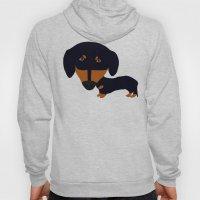 Dachshund (black and tan) Hoody