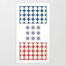 Tic Tac Toe - Towels & more Art Print