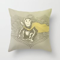 Fearless Creature: Chimpy Throw Pillow