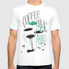 Us And Them: Coffeeholic Anonymous. White Mens Fitted Tee SMALL