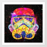 SpaceStorm Art Print