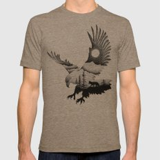 THE EAGLE AND THE FOX Mens Fitted Tee Tri-Coffee SMALL