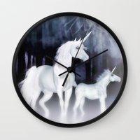 FANTASY - Unicorns Wall Clock