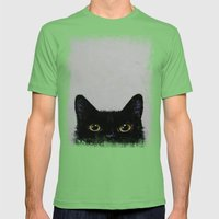 Black Cat Mens Fitted Tee Grass SMALL