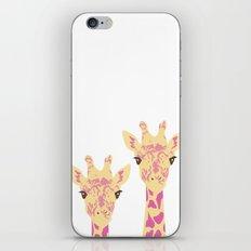pinky giraffe sisters iPhone & iPod Skin