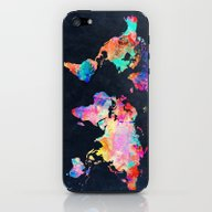 iPhone & iPod Skin featuring World Map by Bekim ART