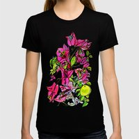 Bougainvillea 2 Womens Fitted Tee Black SMALL
