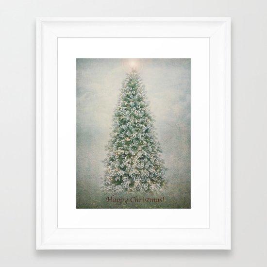 Happy Christmas to everyone on Society6!!! Framed Art Print