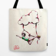 Flying Trapeze Tote Bag