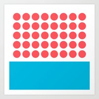 Forty Red Dots Over The … Art Print