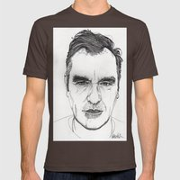 MORRISSEY Mens Fitted Tee Brown SMALL