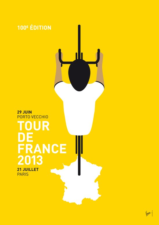 MY TOUR DE FRANCE MINIMAL POSTER 2013 Art Print