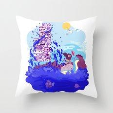 Tiny Worlds - Cinnabar Island Throw Pillow