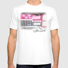 Pink Cadillac - Cotton Candy  Mens Fitted Tee White SMALL