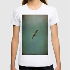 Vintage Flight Womens Fitted Tee Ash Grey SMALL