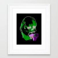 Face Illustration 9 Framed Art Print