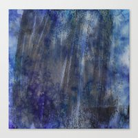 Black and Blue and Paint All Over Canvas Print