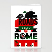 All Roads Lead To Rome Stationery Cards
