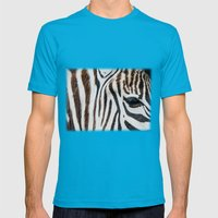 EYE OF THE ZEBRA Mens Fitted Tee Teal SMALL