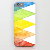 iPhone & iPod Case featuring Geometric Watercolor Shapes Triangles Pattern by Olechka