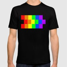 Rainbow Mens Fitted Tee Black SMALL